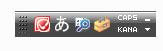 言語バー 全角半角 日本語