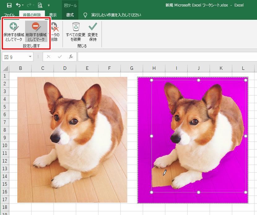 エクセル 挿入 写真 画像 背景 透過 透明 やり方