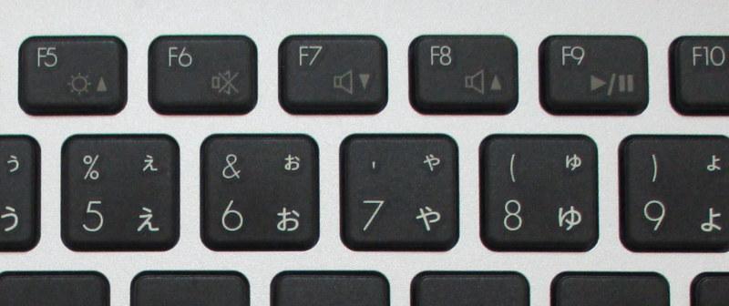 Windows キーボード 音量調整 ファンクションキー